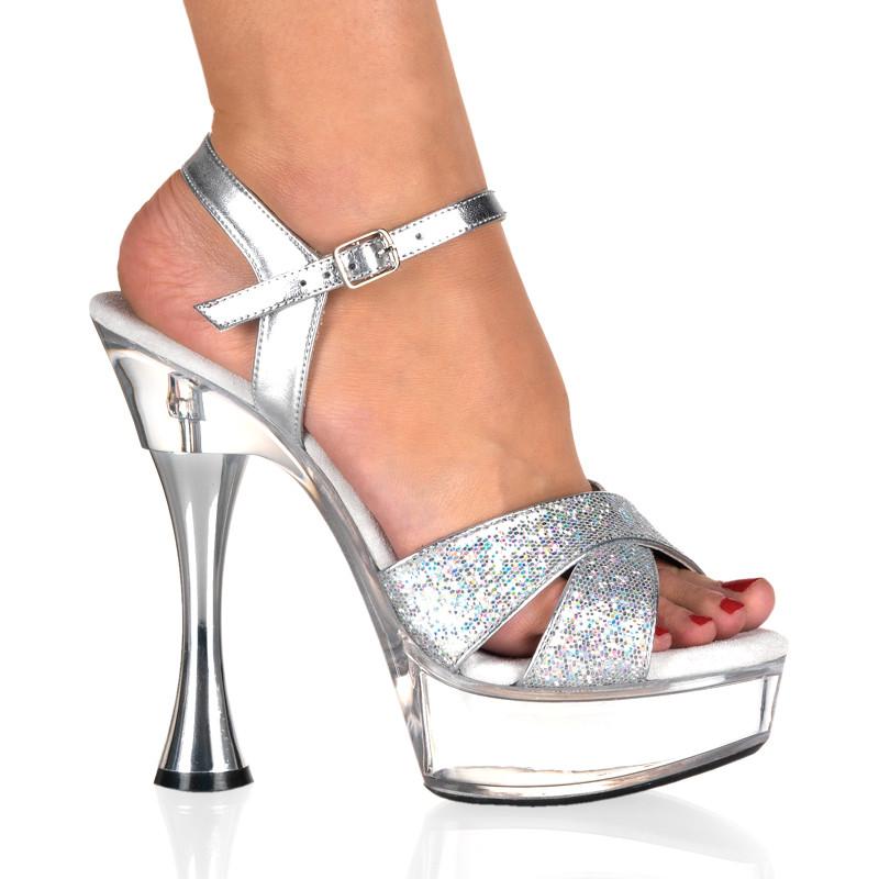 Sweet-440 sandálky Pleaser na střední platformě a podpatku