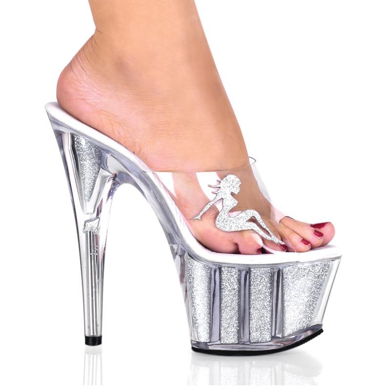 Adore-701-4 pantoflíčky na platformě a podpatku Pleaser