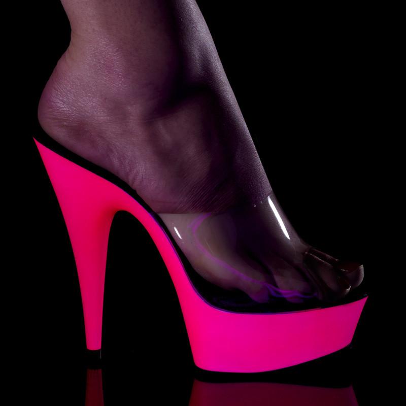Delight-601 UV obuv na podpatku a vysoké platformě Pleaser